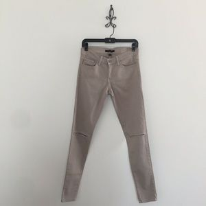 Flying Monkey Women's Distressed Gray Skinny Jeans